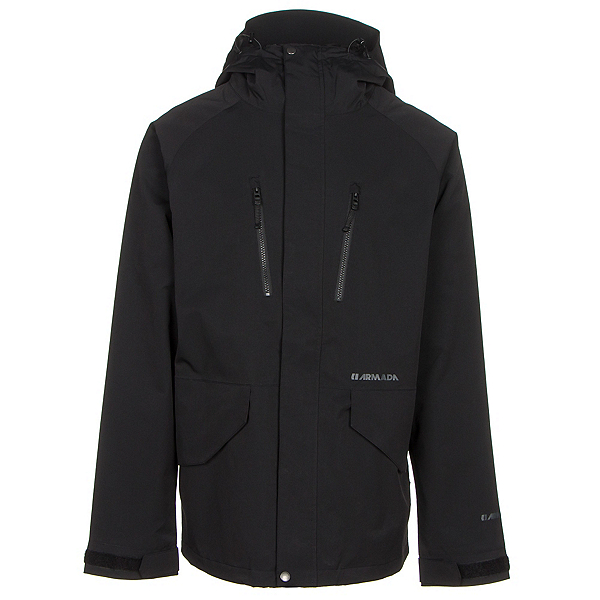 Armada Aspect Jacket Mens Shell Ski Jacket, Black, 600