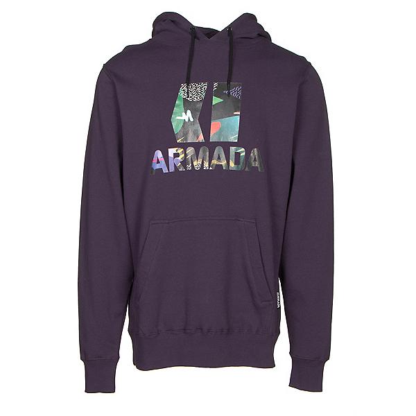 Armada Classic Pullover Mens Hoodie, Deep Purple, 600