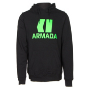 Armada Classic Pullover Mens Hoodie, Black, medium
