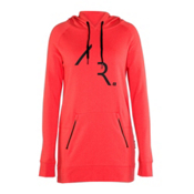 Armada Parker Pullover Tech Womens Hoodie, Coral, medium