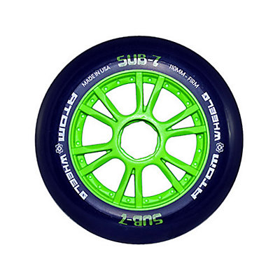 Atom Skates Sub 7 Inline Skate Wheels - 8 Pack 2016, Green-Blue, viewer