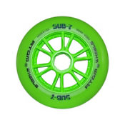 Atom Skates Sub 7 Inline Skate Wheels - 8 Pack 2016, Green, medium