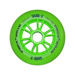 Atom Skates Sub 7 Inline Skate Wheels - 8 Pack, Green, 256