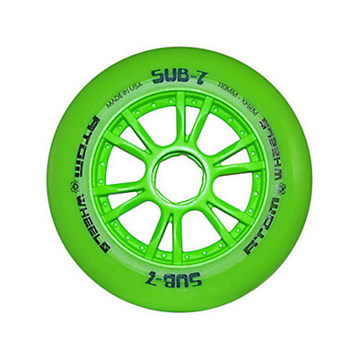 Atom Skates Sub 7 Inline Skate Wheels - 8 Pack, Green-Blue, viewer