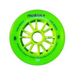 Atom Skates Matrix Plus 84mm Inline Skate Wheels - 8 Pack, Green, 256