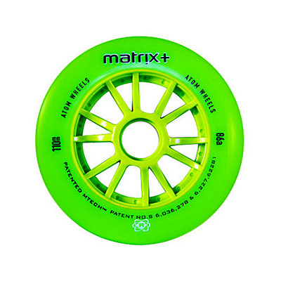 Atom Skates Matrix Plus 84mm Inline Skate Wheels - 8 Pack, Green, viewer