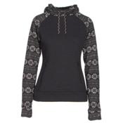 Obermeyer Gracey Fleece Womens Hoodie, Black Snowflake, medium
