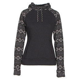 Obermeyer Gracey Fleece Womens Hoodie, Black Snowflake, 256