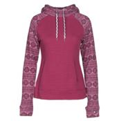 Obermeyer Gracey Fleece Womens Hoodie, Pinot Snowflake, medium