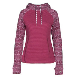 Obermeyer Gracey Fleece Womens Hoodie, Pinot Snowflake, 256