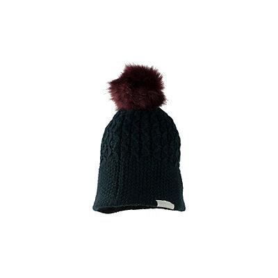 Obermeyer Noelle Knit Faux Fur Womens Hat, Black, viewer