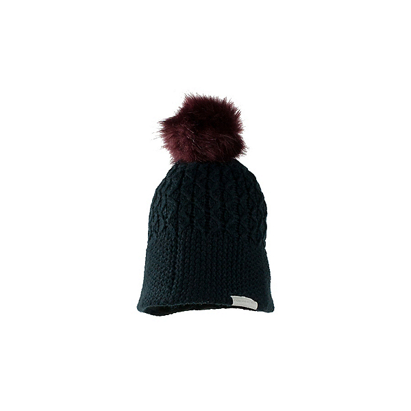 Obermeyer Noelle Knit Faux Fur Womens Hat, Black, 600
