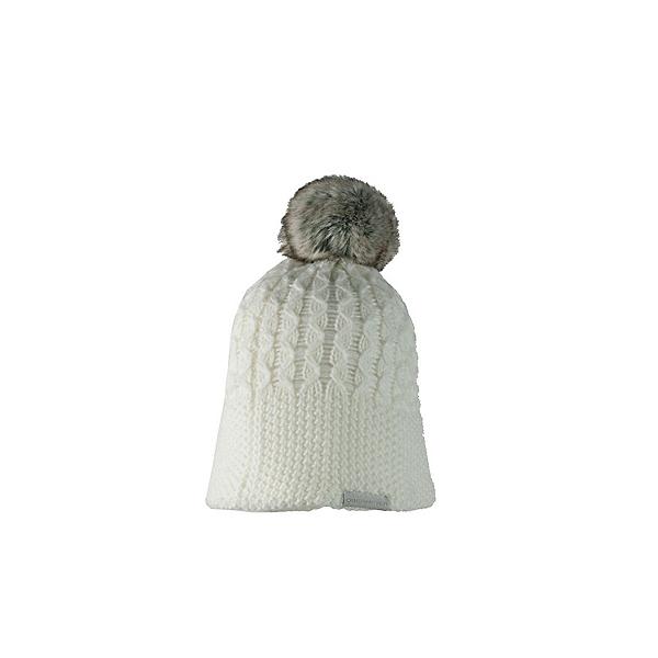 Obermeyer Noelle Knit Faux Fur Womens Hat, White, 600