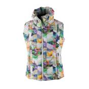 Obermeyer Dawn Insulator Womens Vest, Chevron Floral, medium