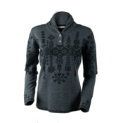 Obermeyer Cabin Knit Pullover Womens Sweater, Light Heather Grey, medium