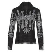 Obermeyer Cabin Knit Pullover Womens Sweater, Black, medium