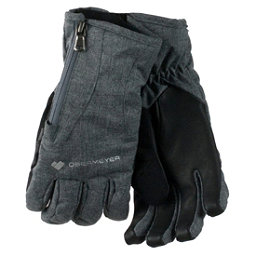 Obermeyer Alpine Womens Gloves, Light Heather Grey, 256