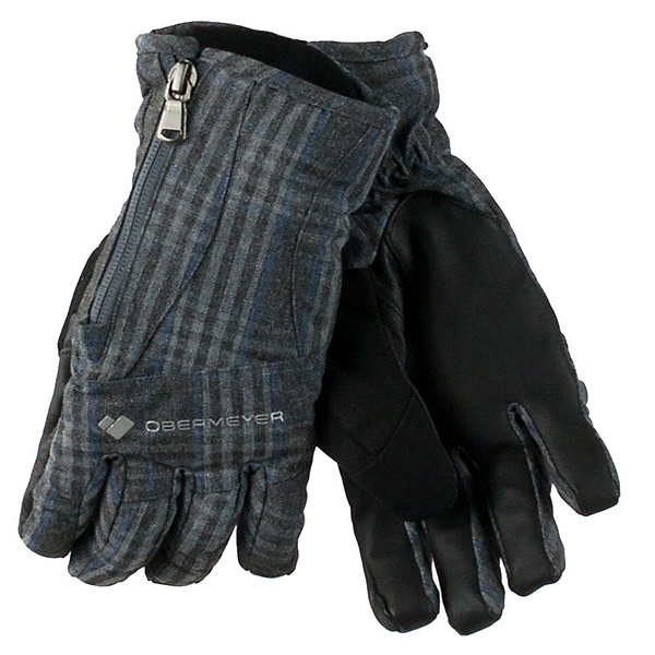 Obermeyer Alpine Womens Gloves, Plaid Heather, 600