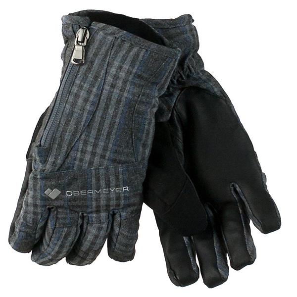 Obermeyer Alpine Womens Gloves, Plaid Heather, 600