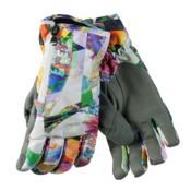 Obermeyer Alpine Womens Gloves, Chevron Floral, medium