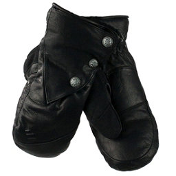 Obermeyer Gates Leather and Down Womens Mittens, Black, 256