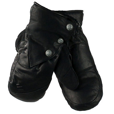 Obermeyer Gates Leather and Down Womens Mittens, , viewer
