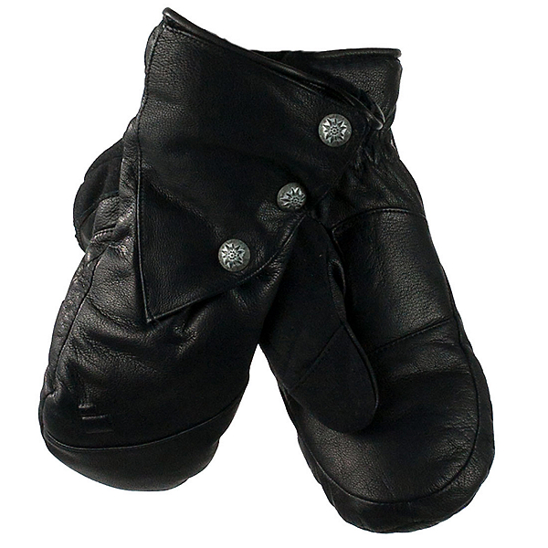 Obermeyer Gates Leather and Down Womens Mittens, Black, 600