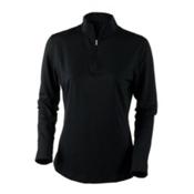 Obermeyer Sage Sport 75wt Zip Womens Long Underwear Top, Black, medium