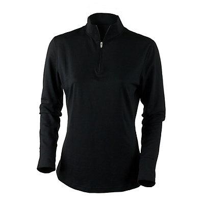 Obermeyer Sage Sport 75wt Zip Womens Long Underwear Top, Black, viewer