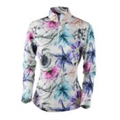 Obermeyer Sage Sport 75wt Zip Womens Long Underwear Top, X Ray Floral, medium