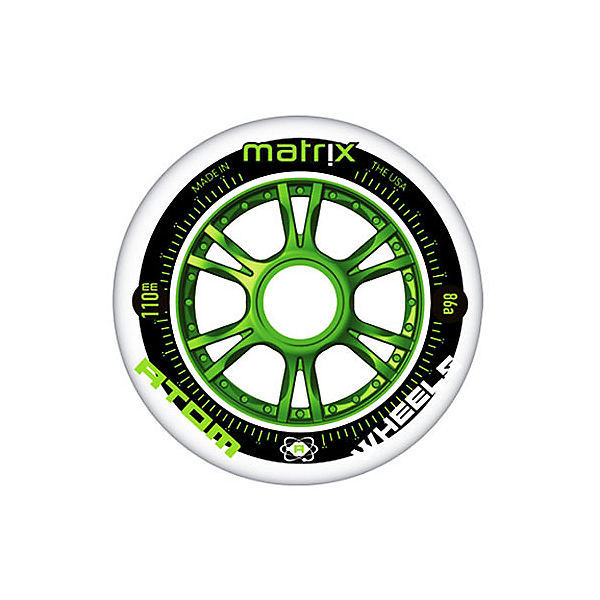 Atom Skates Matrix 80mm Inline Skate Wheels - 8 Pack 2016, , 600
