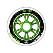 Atom Skates Matrix 90mm Inline Skate Wheels - 8 Pack 2016, Green, medium