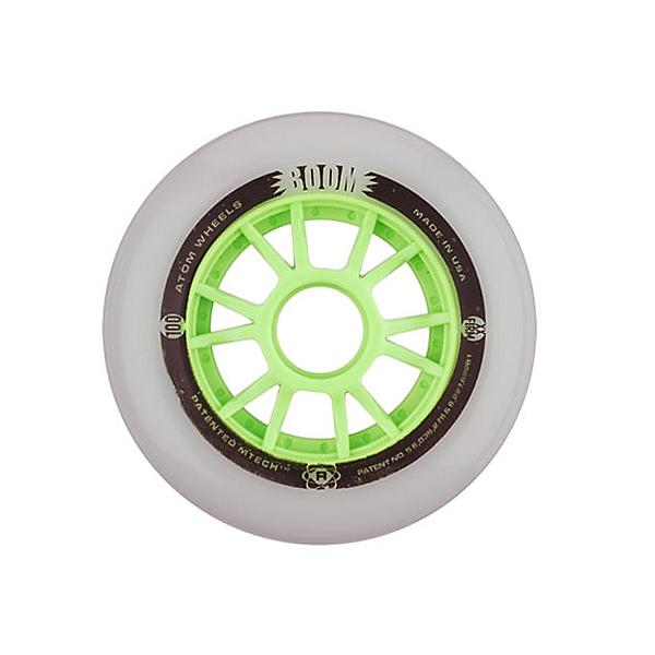 Atom Skates Boom 100mm Inline Skate Wheels - 8 Pack, , 600