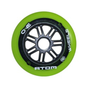 Atom Skates One 110mm Inline Skate Wheels - 8 Pack 2016, Green, medium