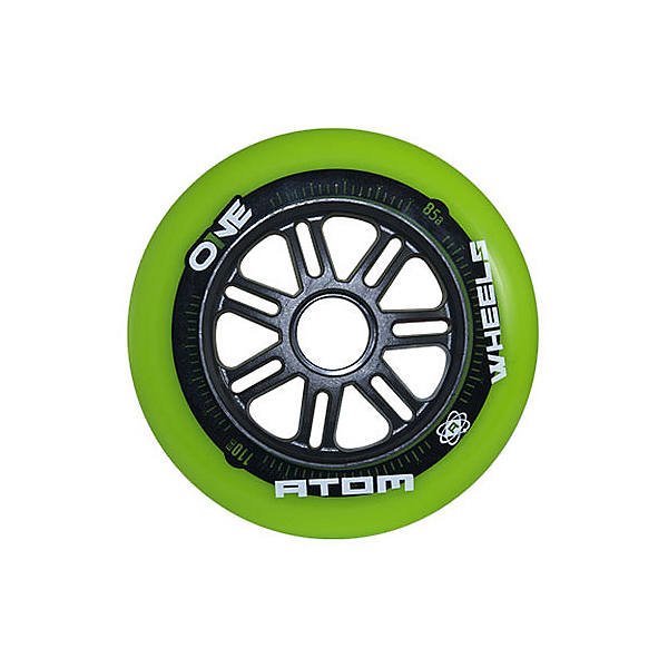 Atom Skates One 110mm Inline Skate Wheels - 8 Pack 2016, , 600