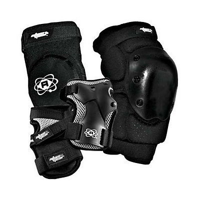 Atom Skates Elite Three Pad Pack 2016, Black, viewer