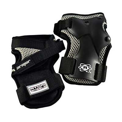 Atom Skates Elite Wrist Guards 2016, Black, viewer