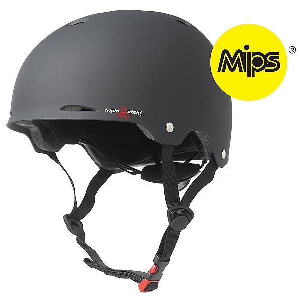 Triple 8 Gotham MIPS Mens Skate Helmet, Black Rubber, 600