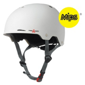Triple 8 Gotham MIPS Mens Skate Helmet, White Matte, medium
