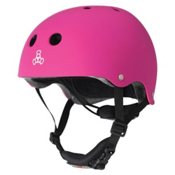 Triple 8 Lil 8 Kids Skate Helmet 2016, Neon Pink Rubber, medium