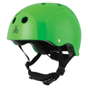 Triple 8 Lil 8 Kids Skate Helmet, Neon Green Glossy, medium