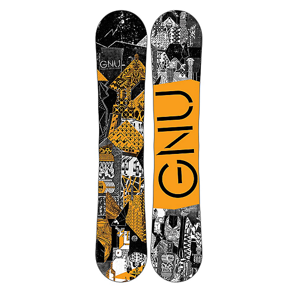 Gnu Carbon Credit BTX Boys Snowboard, Orange, 600
