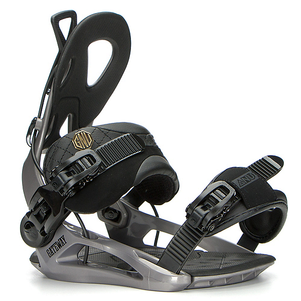 Gnu Gateway Snowboard Bindings 2017, Gray, 600
