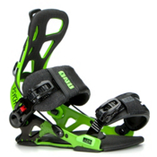 Gnu Psych Snowboard Bindings 2017, Green, medium