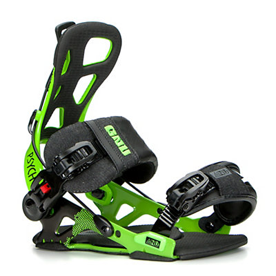 Gnu Psych Snowboard Bindings 2017, Green, viewer