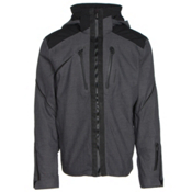 Obermeyer Proton Mens Insulated Ski Jacket, Herringbone, medium