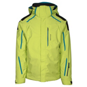 Obermeyer Charger Mens Insulated Ski Jacket, Screamin Green, medium