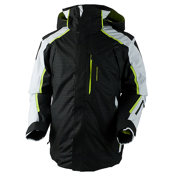 Obermeyer Charger Mens Insulated Ski Jacket, Black Deboss, 600