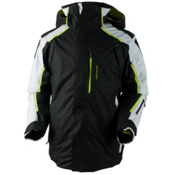 Obermeyer Charger Tall Mens Insulated Ski Jacket, Black Deboss, medium