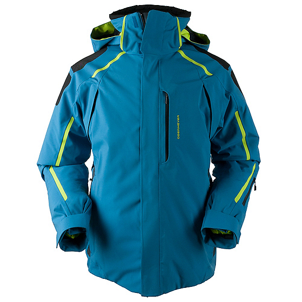 Obermeyer Charger Tall Mens Insulated Ski Jacket, High Seas, 600